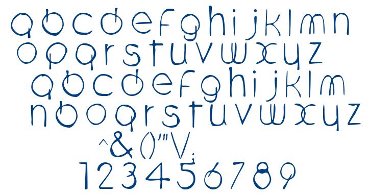 Scriptkulus font