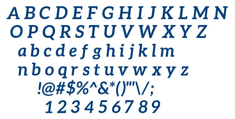 Aleo Bold Italic font