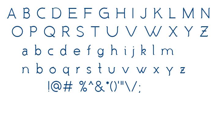 Malandrino font