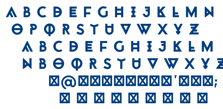 Monohypster font