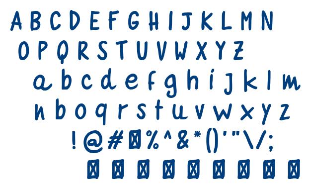 Quaderno Bianco font
