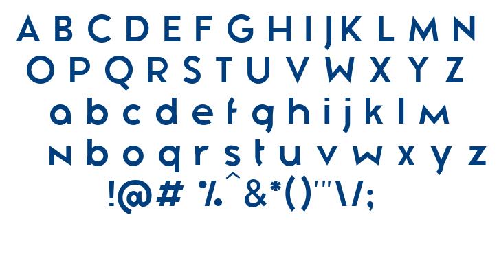 Zeronero font