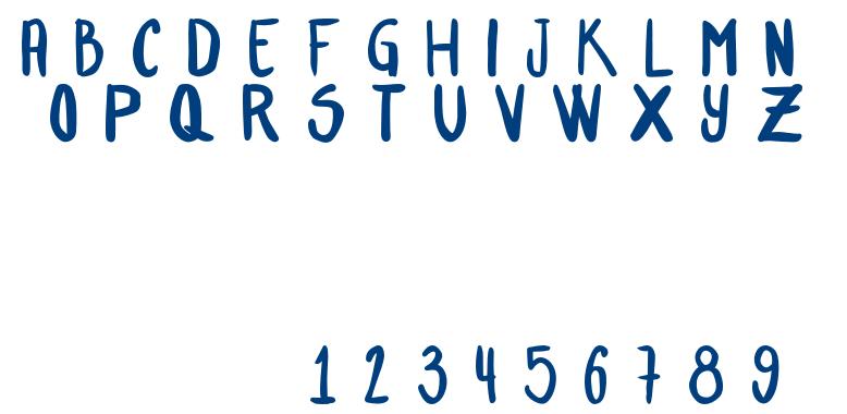BasultoHandLetter-Bold font