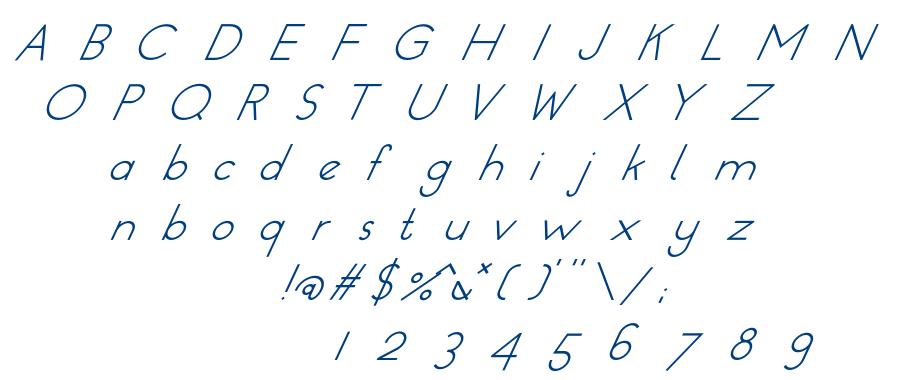 Dressler Italic font