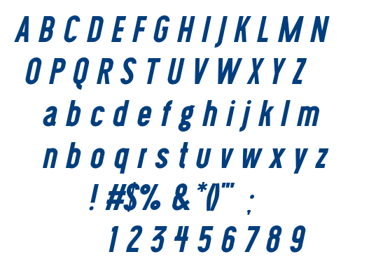 Wask New Bold Italic font