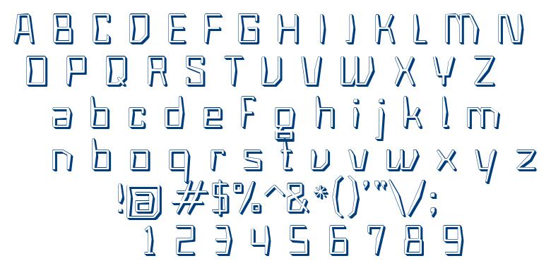 Astro 3D font