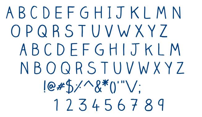 ClaireHand-Regular font