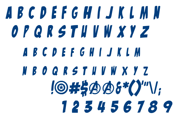 The Mighty Avengers font