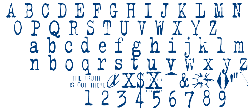 The X-Files font