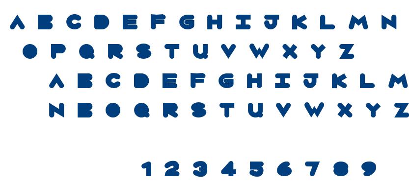 Circles font