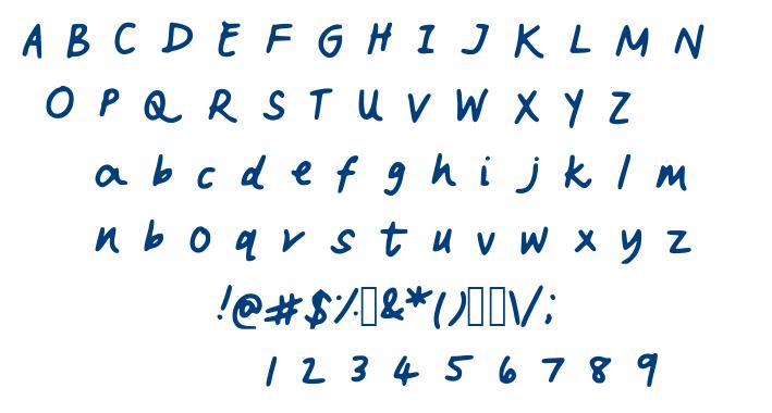 Vanderful font