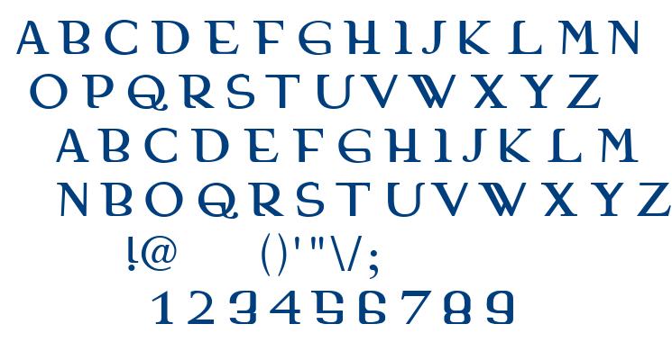 Madariaga font