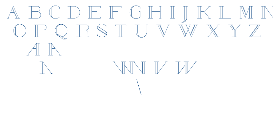 Poste-Outwired font
