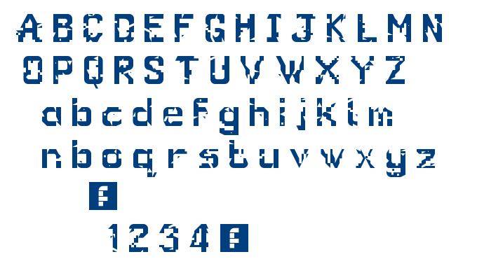 Glitch Regular font
