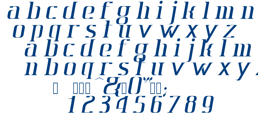 Mr.Jun-italic font