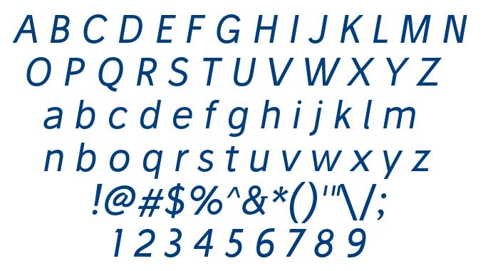 Stilu Italic font