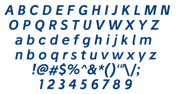 Stilu SemiBold Italic font