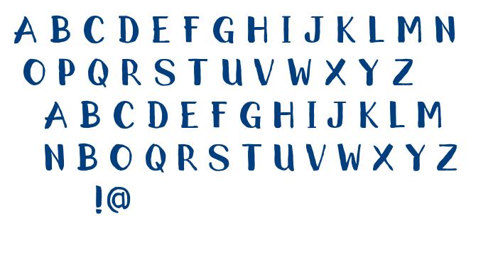 RoughBrush font