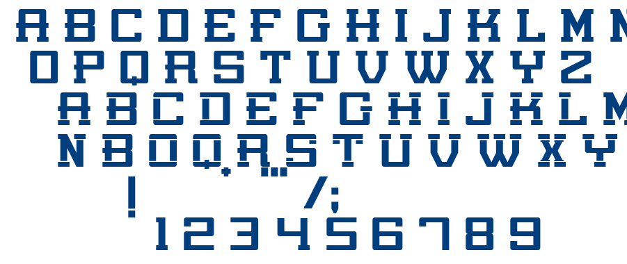 Poniente Regular font