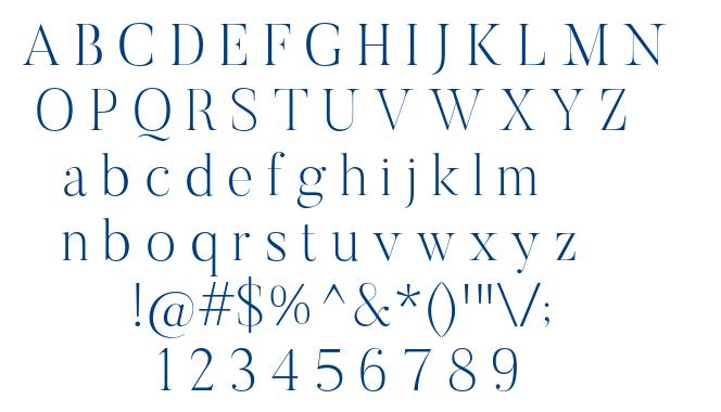 Butler-UltraLight font