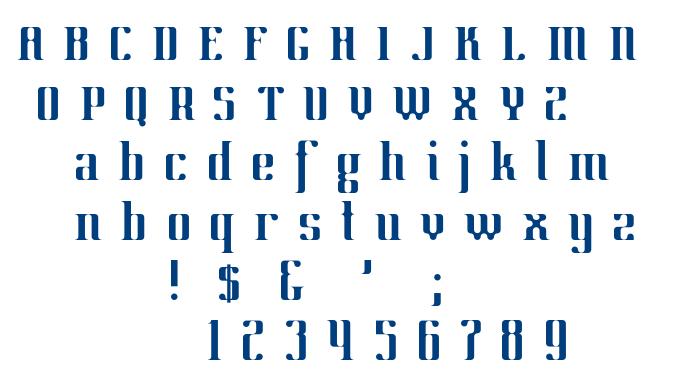 Manufraktur-Regular font