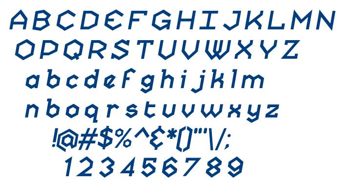 Skatekey-Banked font