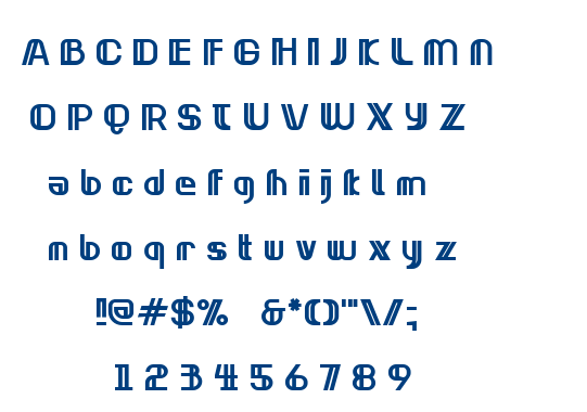 Neonclipper Bold font