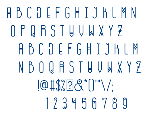 GOGOIA Deco font
