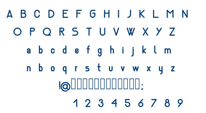 Nemesia bold font