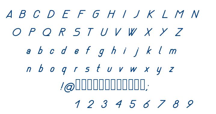 Nemesia italic font
