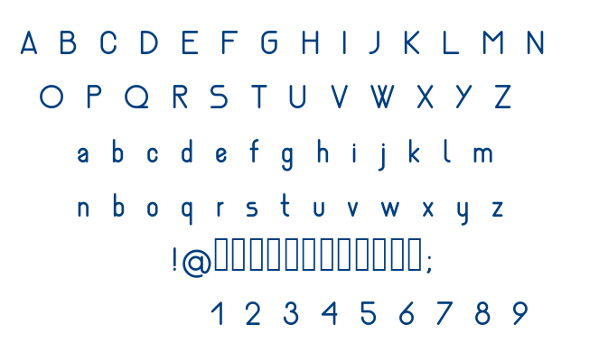 Nemesia regular font