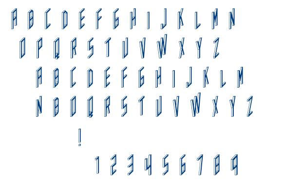 AC Framed Inverted font