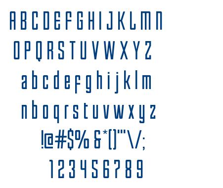 Enfatica-Normal font