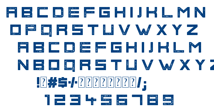 Phage Rough font
