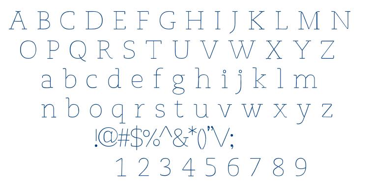 Osgood Slab font