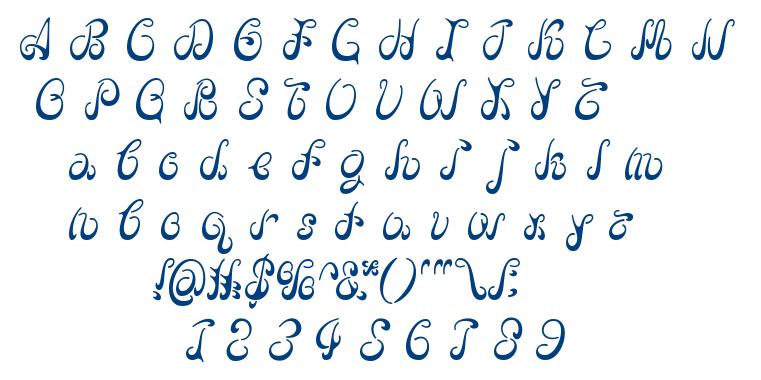 BDFlow-Alphabet font
