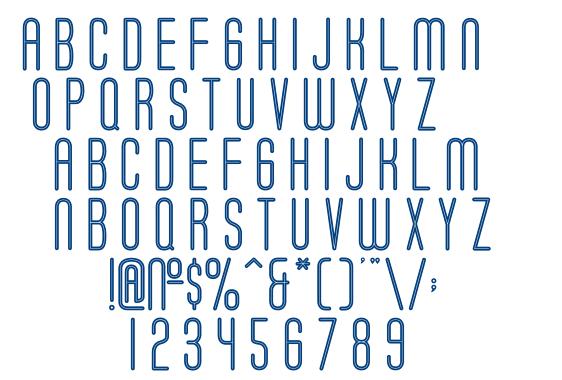 Soda Fountain Inline font