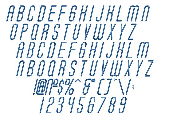 Soda Fountain Inline Oblique font