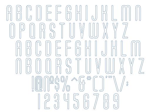 Soda Fountain Outline font
