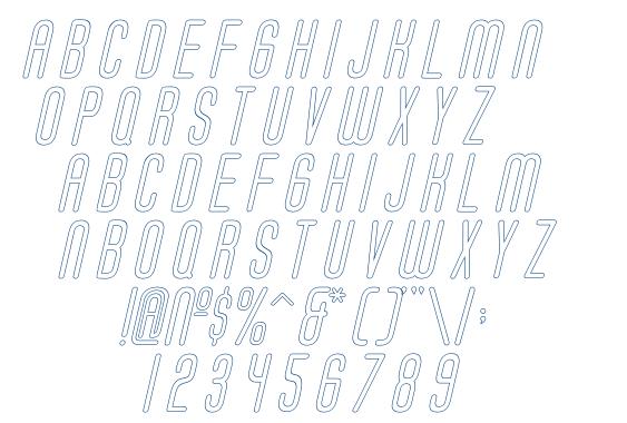 Soda Fountain Outline Oblique font