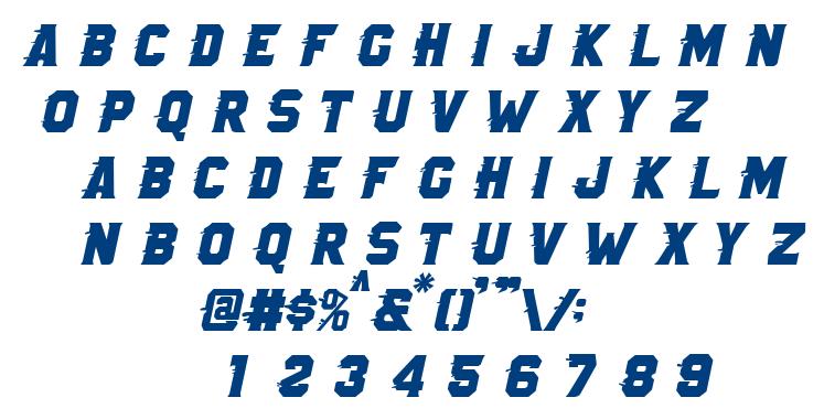 Royals Rush Italic font