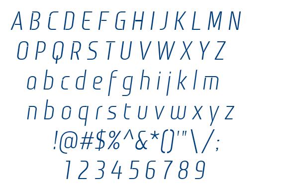 Monitorica Italic font