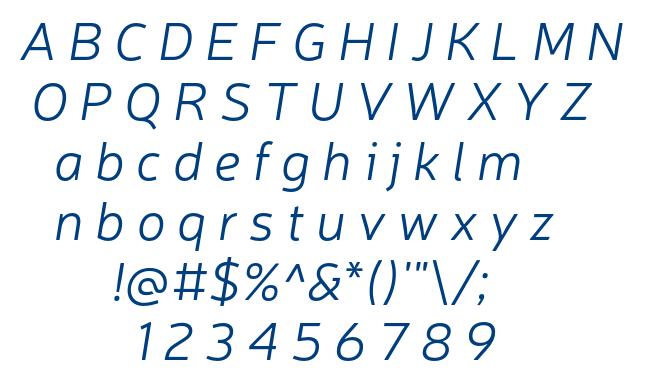 Neris Light Italic font