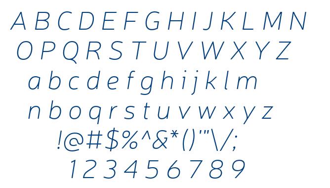 Neris Thin Italic font