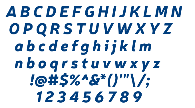 Neris Black Italic font