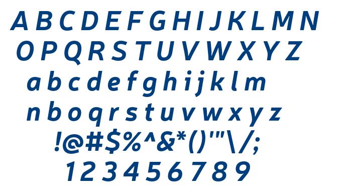 Neris Bold Italic font