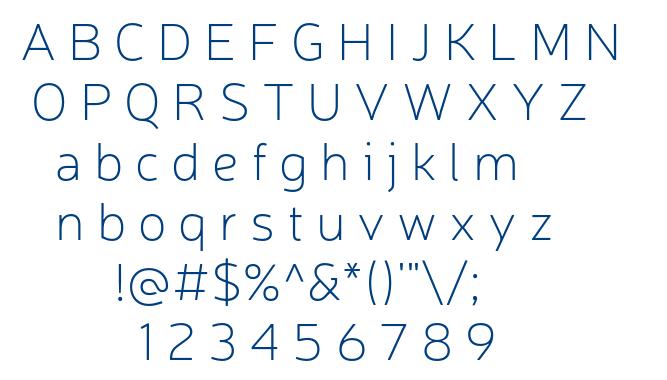 Neris Thin font