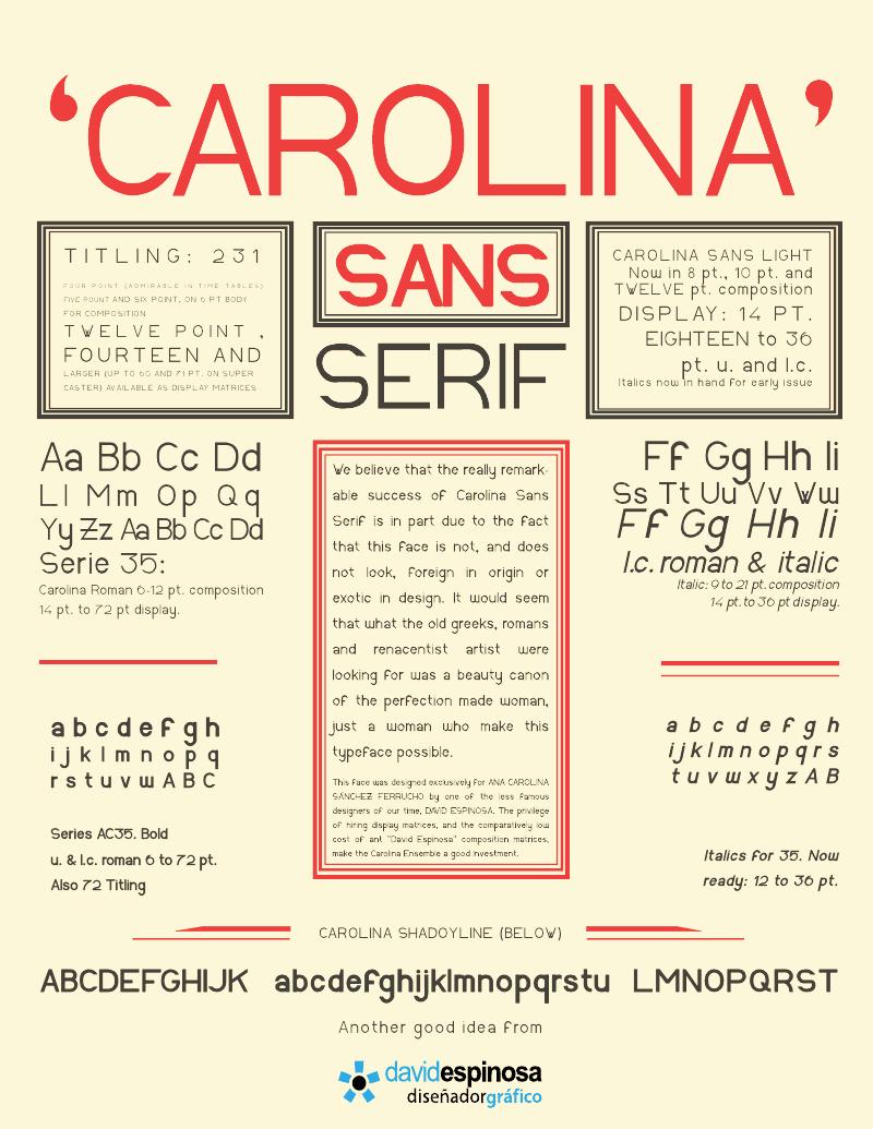 Carolina Sans font