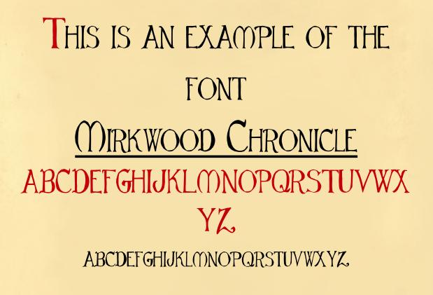 Mirkwood Chronicle font