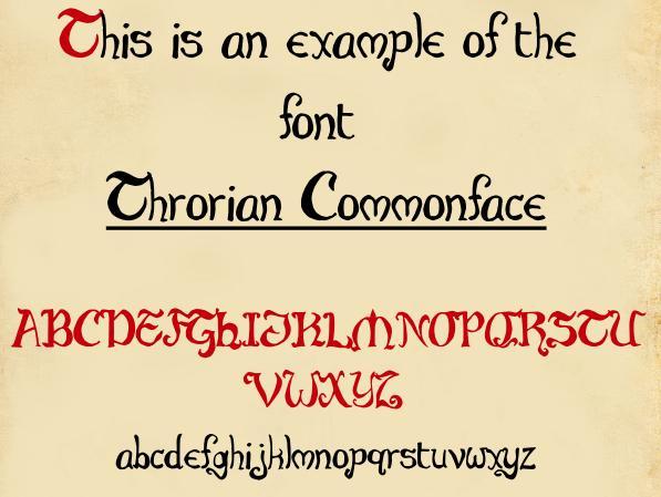 Throrian Commonface font